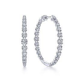 24663 - Diamond 2.63ctw Inside Out Diamond Hoops -Gabriel-14K-White-Gold-Fashion-Earrings_EG13821W45JJ-1