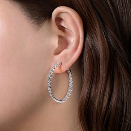 24663 - Diamond 2.63ctw Inside Out Diamond Hoops - Gabriel-14K-White-Gold-Fashion-Earrings_EG13821W45JJ-2