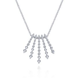 24678-gabriel-14kt white gold diamond .68ctw 5-point fanning strand necklace-NK5833W45JJ