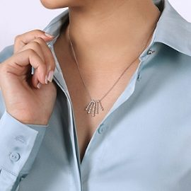 24678-gabriel-14kt white gold diamond .68ctw 5-point fanning strand necklace-NK5833W45JJ