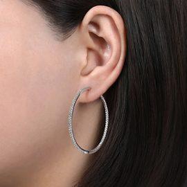 24658 - diamond 1.46ctw Gabriel-14K-White-Gold-French-Pave--40mm-Round-Inside-Out-Diamond-Hoop-Earrings_EG13504W45JJ-2
