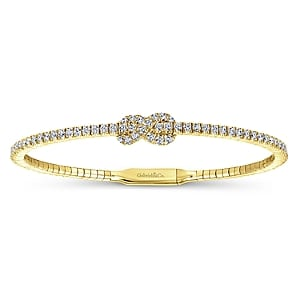 24623-Diamond Love Knot - Gabriel-14K-Yellow-Gold-Fashion-Bangle_BG3981-65Y45JJ-1