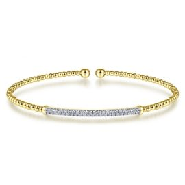 24627 - Diamond .33ctw pave bar - Gabriel-14K-Yellow-Gold-Fashion-Bangle_BG4262-65Y45JJ-1