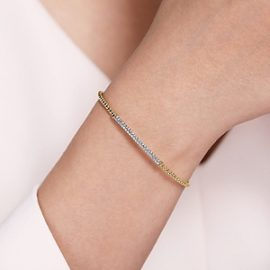24627 - Diamond .33ctw pave bar - Gabriel-14K-Yellow-Gold-Fashion-Bangle_BG4262-65Y45JJ-4
