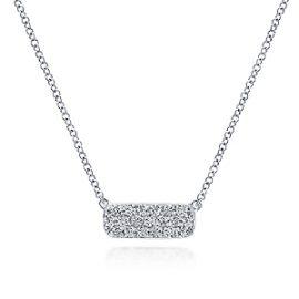 24679-gabriel-14kt white gold diamond .18ctw east-west bar necklace-NK4943W45JJ