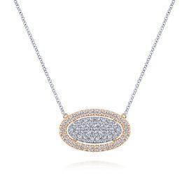 24670-Gabriel-14k-White-Rose-Gold-Pave-Diamond-.90ctw Oval-Pendant-Fashion-Necklace_NK6016T45JJ