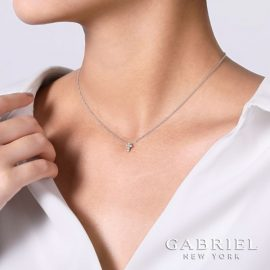 24675-gabriel-14kt white gold diamond .11ctw cross necklace-NK1370W45JJ