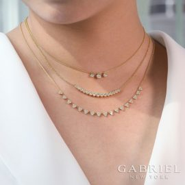 24680-gabriel-14kt yellow gold diamond .61ctw scalloped adjustable necklace-NK6023Y45JJ