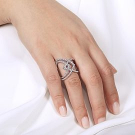 23028-diamond 1.02ctw multi row swirl ring Gabriel-14K-White-Gold-Wide-Band-Layered-Diamond-Ring_LR51496W45JJ-5