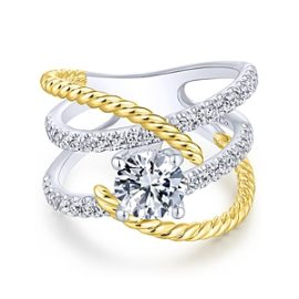 23030-diamond .64ctw four row twisted Gabriel-14K-White-Yellow-Gold-Round-Freeform-Diamond-Engagement-Ring_ER14052R4M44JJ-1