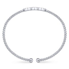 24625-Diamond .13ctw Hexagon Trio -Gabriel-14K-White-Gold-Fashion-Bangle_BG4117-65W45JJ-3