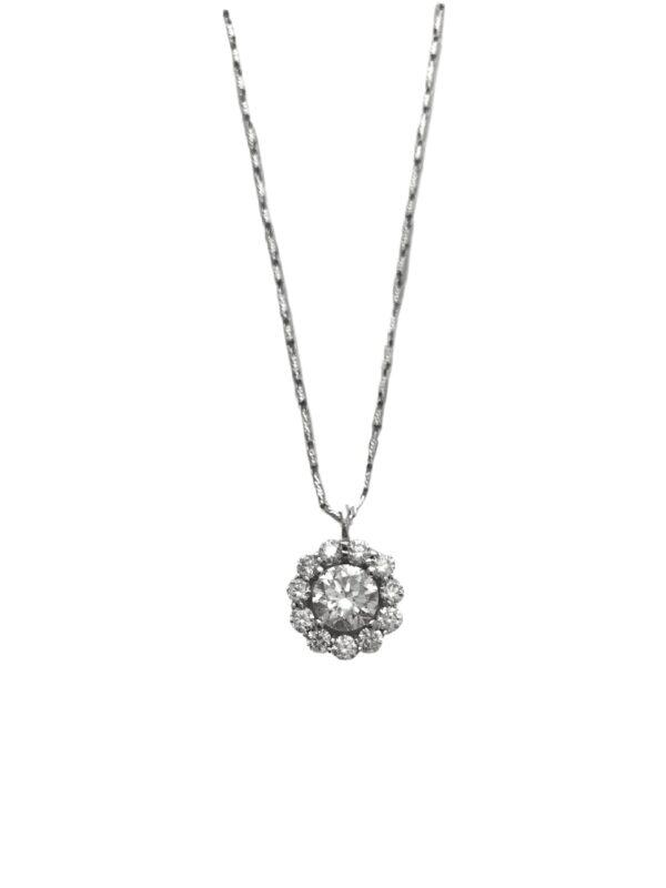 23555 -JJI-ADWAR- 14kt white gold diamond 1.86ct & rbc d1.07ctw pendant-C14174