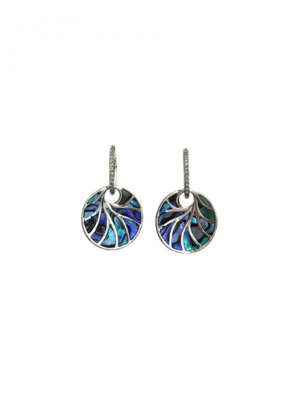 24530 FREDERIC SAGE -14kt white gold d.13ctw abalone round small venus II earrings-P3678A4WGAL