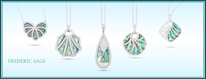 9-2-2019 Frederic Sage Abalone & Diamond & Mother of Pearl Pendant Collection