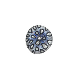 22241 14kt white gold multi color sapphire 3.20ctw & dia .45ctw ring