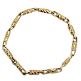 yellow gold raso link chain ring