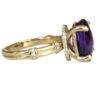 amethyst ring with hidden diamond halo