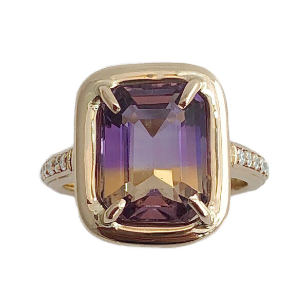 ametrine and diamond ring