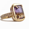 emerald cut ametrine 5.64 carat ring with diamonds