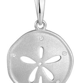 gold sand dollar pendant with diamonds