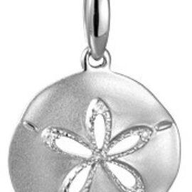 gold sand dollar pendant