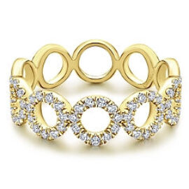 multi circle diamond stackable ring