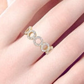 multi circle diamond band
