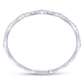 white gold diamond multi station bangle with clasp