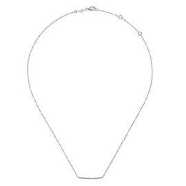 curved bar diamond necklace with diamonds