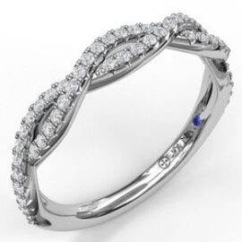 narrow twist double diamond band .31 carat total weight