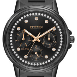 citizen eco drive black stainless chronograph watch