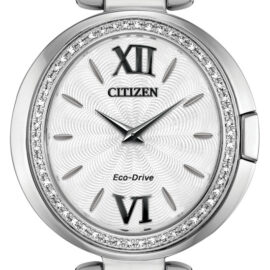 citizen eco drive ladies watch with diamond bezel
