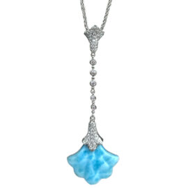 couture larimar and diamond necklace