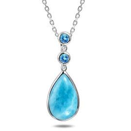 larimar & blue topaz pendant