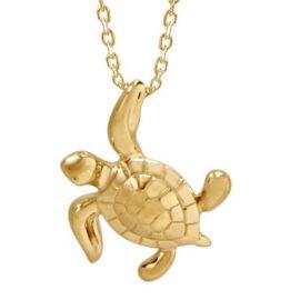 14kt turtle necklace