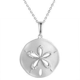diamond sand dollar pendant