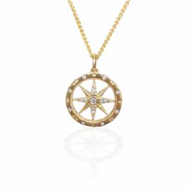 24428 - compass rose d.20ctw pendant