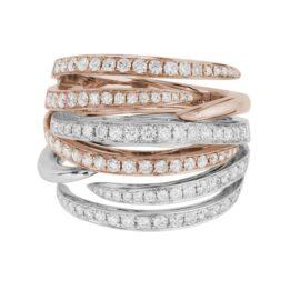 diamond two piece interlocking rings