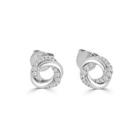 14kt twist diamond earrings