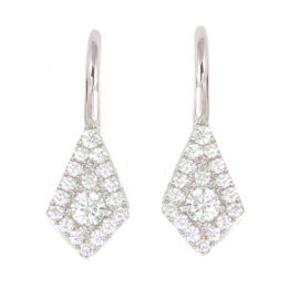 14kt kite shape diamond drop earrings