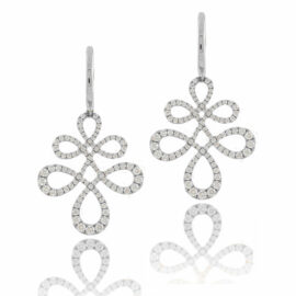14kt diamond swirl dangle earrings Eloise