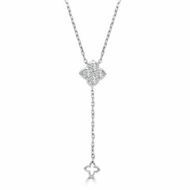 14kt Jolie clover lariat necklace