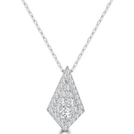14kt xlg kite shape diamond necklace