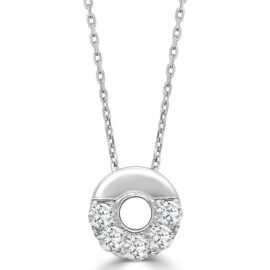 14kt small half Nebula diamond necklace