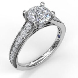 round engagement mounting for 1.50ct