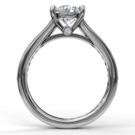 round engagement mounting for 1.50 ct