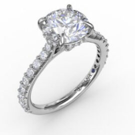 cathedral style semi-mounting for 1ct