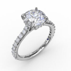 1.50 Carat Cathedral Engagement Ring Mounting