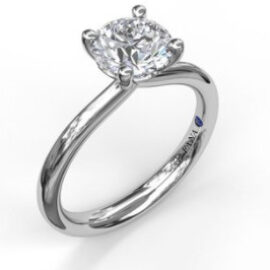 solitaire engagement ring for .50 carat center