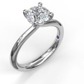 round solitaire mounting for .75 carat